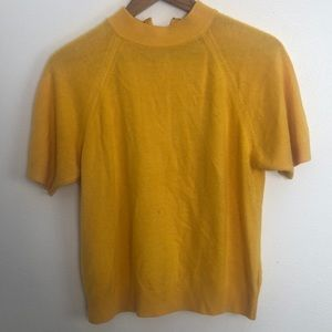 Lord & Taylor the American petite yellow sweater M